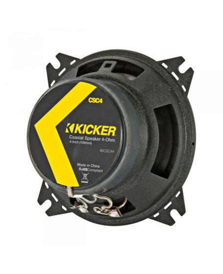 KICKER Car Audio CS Series 4 inch 2-Way Coaxial Speaker, 150W - 46CSC44 NEW 2019