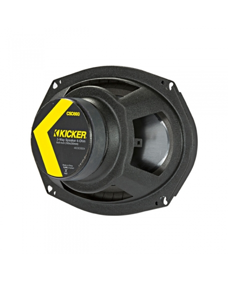 KICKER Car Audio CS Series 6 x 9 inch 3-Way Coaxial Speaker, 450W - 46CSC6934 NEW 2019