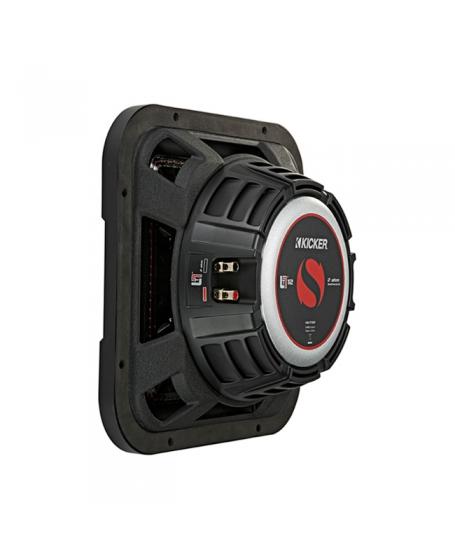 KICKER Car Audio Solo-Baric L7T 12 inch DVC Ultra Thin Subwoofer, 1200W - 46L7T122