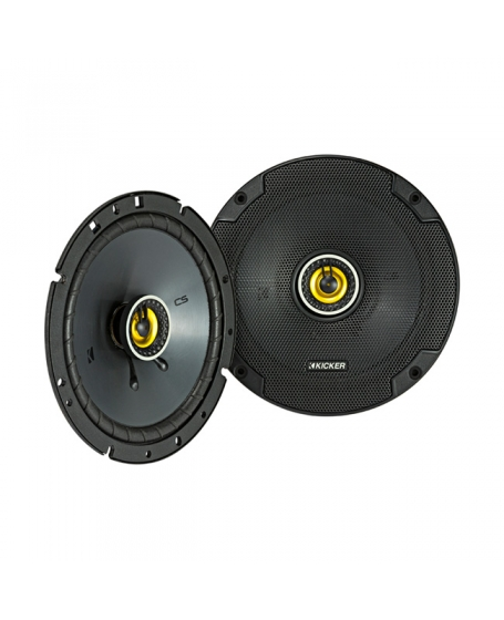 KICKER Car Audio CS Series 6.75 inch 2-Way Coaxial Speaker, 300W - 46CSC674 NEW 2019