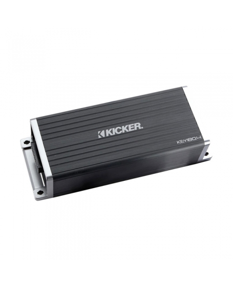 KICKER Car Audio 180W 4-Channel KEY Auto-EQ Smart Amplifier ( A.I.-driven DSP ) - 45KEY1804