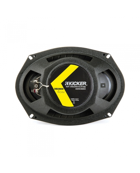 KICKER Car Audio DS SERIES 6 x 9 inch 3-Way Triaxial Speaker, 360W - 43DSC69304