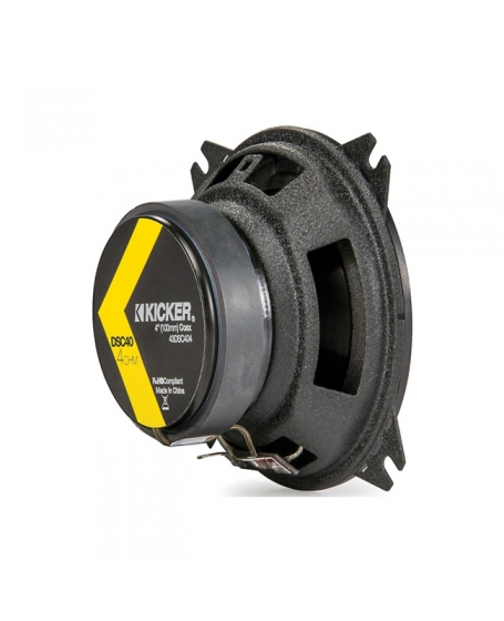 KICKER Car Audio DS SERIES 4 inch 2-Way Coaxial Speaker, 120W - 43DSC404
