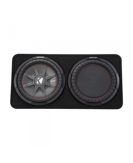 KICKER Car Audio CompRT 12 inch Thin Loaded Enclosure with Reflex Subwoofer, 1000W - 43TCWRT122