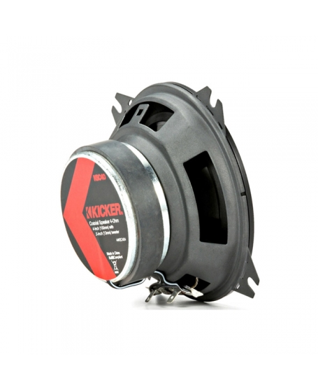 KICKER Car Audio KS SERIES 4 inch 2-Way Coaxial Speaker, 150W - 44KSC404