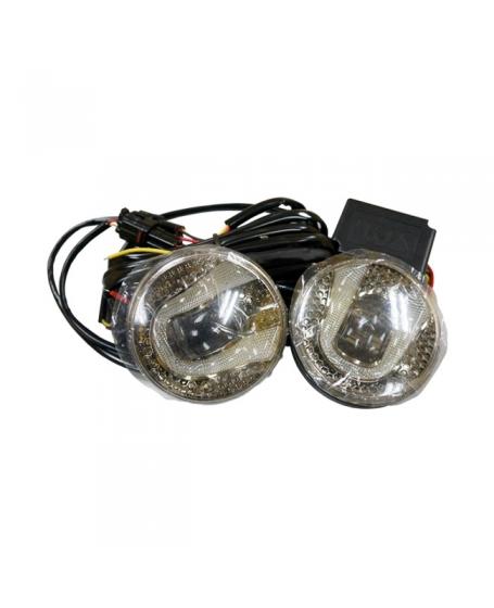 MOHAWK Car Accessories OEM Universal 2 STEP 4 inch Fog Lamp LED WHITE